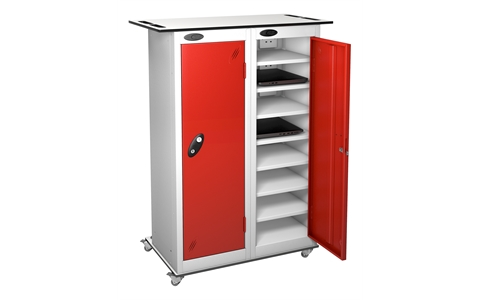 Tablet Charging Single Door Multi Compartment Lockers