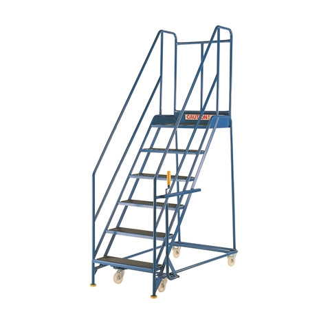 Mobile Warehouse Safety Steps with Handlock